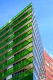 Wolkenkrabber met gekleurde muren stock fotografie