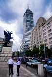 Wolkenkrabber, Mexico-City stock foto's