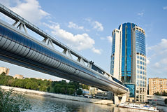 Wolkenkrabber in Moskou-Stad Royalty-vrije Stock Fotografie