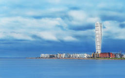 Wolkenkrabber op de waterkant in Kopenhagen Royalty-vrije Stock Foto's