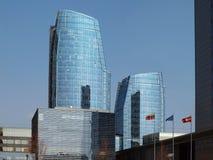 Wolkenkrabber in stad Vilnius royalty-vrije stock foto's
