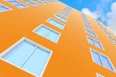 Wolkenkrabber tegen de blauwe hemel Stock Fotografie