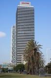 Wolkenkrabber Torre Mapfre Stock Afbeeldingen