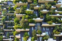 Wolkenkrabber verticaal bos in Milaan Royalty-vrije Stock Foto