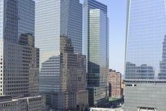 Wolkenkrabbergebouwen in Stad de van de binnenstad van New York Royalty-vrije Stock Afbeeldingen