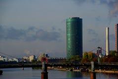 Wolkenkrabberhorizon Frankfurt Stock Foto