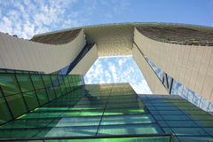 Wolkenkrabbermening Stock Foto