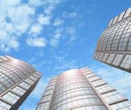 Wolkenkrabbers. Stock Foto's