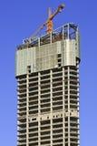 Wolkenkrabbers in aanbouw in Dalian, China Stock Afbeeldingen