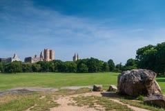 Wolkenkrabbers bahind Centraal park Royalty-vrije Stock Afbeeldingen
