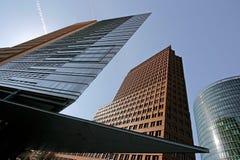 Wolkenkrabbers in Berlijn, Duitsland Stock Foto's
