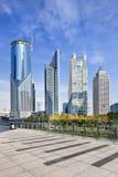 Wolkenkrabbers bij het Financiële District van Lujiazui, Shanghai, China Royalty-vrije Stock Foto