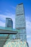 Wolkenkrabbers bij het Financiële District van Lujiazui, Shanghai, China Royalty-vrije Stock Fotografie