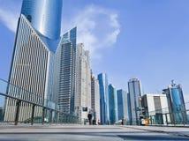 Wolkenkrabbers bij het Financiële District van Lujizui, Shanghai, China Stock Afbeelding