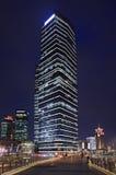 Wolkenkrabbers bij Lujiazui-gebied bij nacht, Shanghai, China Stock Afbeeldingen