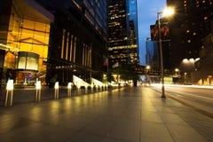 Wolkenkrabbers bij Schemer, Houston Downtown Stock Afbeelding
