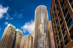 Wolkenkrabbers in Boston van de binnenstad, Massachusetts Royalty-vrije Stock Afbeelding