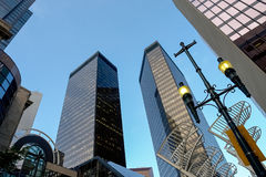 Wolkenkrabbers in Calgary, Canada Stock Foto's
