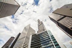 Wolkenkrabbers in Chicago, Illinois, de V.S. Stock Afbeelding