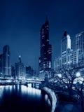 Wolkenkrabbers in Chicago, Illinois, de V.S. stock foto's