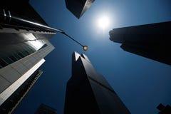 Wolkenkrabbers, Chicago, lijn, architectuur, torens Stock Afbeeldingen