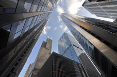 Wolkenkrabbers in Chicago Van de binnenstad Royalty-vrije Stock Afbeeldingen