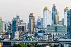 Wolkenkrabbers - de stad in, Bangkok, Thailand Royalty-vrije Stock Afbeeldingen