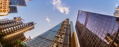 Wolkenkrabbers in de Stad van Londen Stock Afbeeldingen