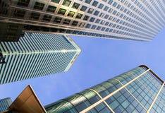 Wolkenkrabbers in de stad van Londen Stock Foto