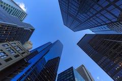 Wolkenkrabbers in de Stad van New York Stock Foto