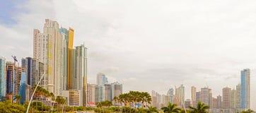 Wolkenkrabbers in de stad van Panama, Panama Royalty-vrije Stock Fotografie