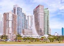 Wolkenkrabbers in de stad van Panama, Panama Royalty-vrije Stock Foto's