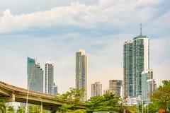 Wolkenkrabbers in de stad van Panama, Panama Royalty-vrije Stock Afbeelding