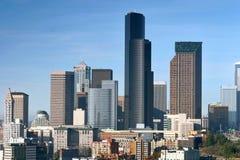 Wolkenkrabbers de van de binnenstad van Seattle stock foto's