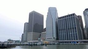Wolkenkrabbers de van de binnenstad van New York - van Manhattan stock videobeelden