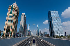 Wolkenkrabbers in Doubai royalty-vrije stock foto