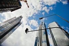 Wolkenkrabbers in Frankfurt, Duitsland Royalty-vrije Stock Foto's
