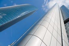 Wolkenkrabbers in Frankfurt, Duitsland royalty-vrije stock fotografie