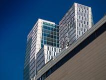 Wolkenkrabbers in het centrum Frankfurt, Duitsland Royalty-vrije Stock Foto
