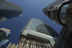 Wolkenkrabbers in het Eiland van Hongkong Royalty-vrije Stock Afbeelding