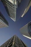 Wolkenkrabbers in het Eiland van Hongkong Stock Foto