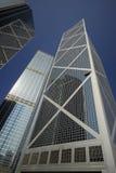 Wolkenkrabbers in het Eiland van Hongkong Stock Fotografie