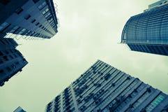 Wolkenkrabbers in Hong Kong Stock Afbeeldingen