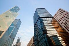 Wolkenkrabbers in Hongkong royalty-vrije stock foto