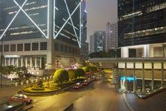 Wolkenkrabbers in Hongkong Stock Afbeeldingen