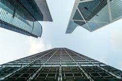 Wolkenkrabbers in Hongkong Royalty-vrije Stock Foto's