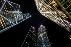 Wolkenkrabbers in Hongkong Royalty-vrije Stock Fotografie