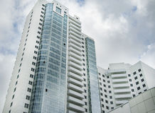 Wolkenkrabbers, industriële architectuur Stock Fotografie