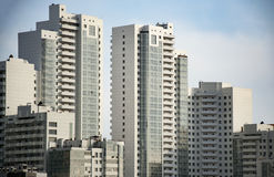 Wolkenkrabbers, industriële architectuur Stock Afbeeldingen