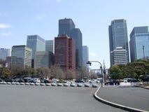 Wolkenkrabbers in Japan stock foto's